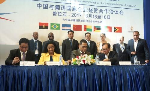 O Encontro de Empresários para a Cooperação Económica e Comercial entre a China e os Países de Língu...